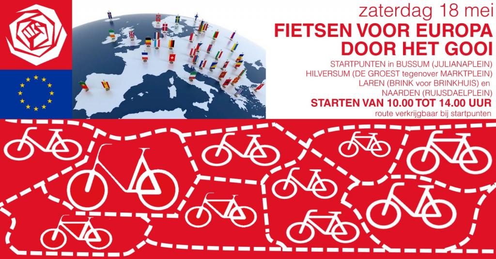 PvdA Hilversum - fietsen voor de EU